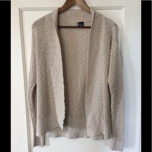 Sparkle and Fade Cream Cardigan with Pockets